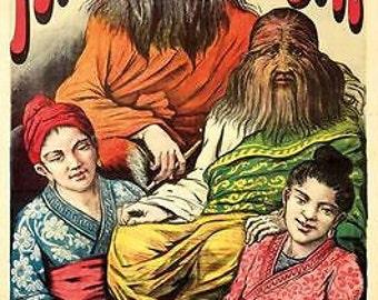 Vintage Folies Bergere Freak Show Poster A3 Print
