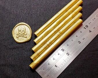 5 x Gold Sealing Wax Sticks (10cm x 7cm) Wax Seal Sticks For 7~8cm Glue Gun or Melting Spoon