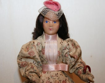 Vintage Doll -Lovely Erna Meyer lady- Dollhouse doll- made in Germany -Miniatures