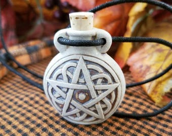 Pentacle Bottle Necklace