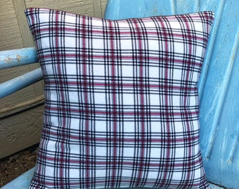 Red and Black Plaid Pillow - Throw Pillow - Pillow Cover