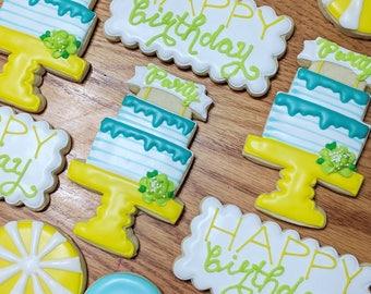 1 Dozen Happy Birthday Congratulations Cookies