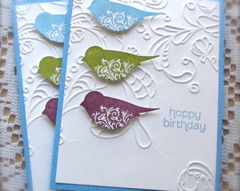Birds   Happy Birthday Greeting Cards   Set of 2   Shipping Included