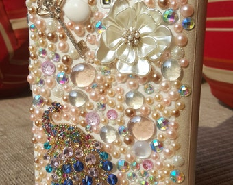 Handmade Jeweled, Tri-Folding Case for Samsung Galaxy S 8.4 Tablet - Gold