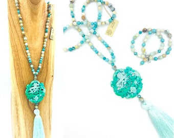 Long Turquoise Jade necklace