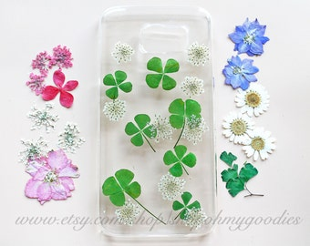 iPhone 6 Case Pressed Flower, Floral Cases iPhone 5c 5s 5 Case Real Flower iPhone Case Pressed Flower Cases Mint Galaxy S6 Edge S5 S4 Case