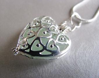 HANDMADE Jewelry Authentic Seafoam Sea Glass Heart Locket - Heart Locket Necklace - Heart Pendant - Sea Glass from Prince Edward Island