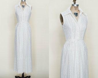 1960s Maxi Dress --- Vintage Lace Dress