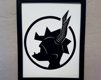 Spyro (Spyro the Dragon) | Papercut Silhouette