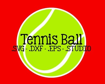 Tennis Ball Cut File - Tennis Ball Clip Art - Tennis Ball SVG - Tennis Ball DXF - Tennis Ball EPS - Tennis Ball Silhouette Studio File