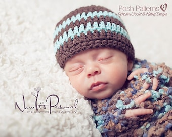 Crochet PATTERN - Easy Crochet Pattern - Crochet Hat Pattern - Crochet Patterns for Men - Crochet Pattern Baby - Includes 7 Sizes - PDF 121