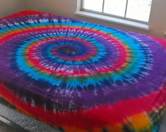 Tie Dye Full-size Fitted Sheet