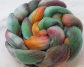 It Was A Funny Angle - Hand dyed organic polwarth top