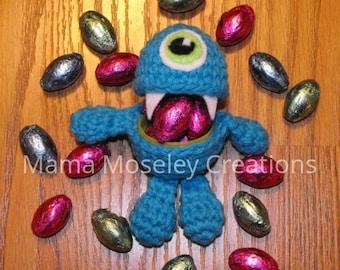 One Crochet Easter Egg Monster