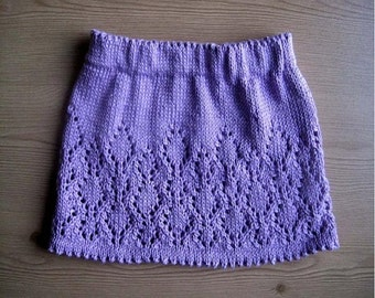Girl's Skirt Knitting Pattern -Instant Download PDF  -  in 6 sizes - Newborn - 5yrs