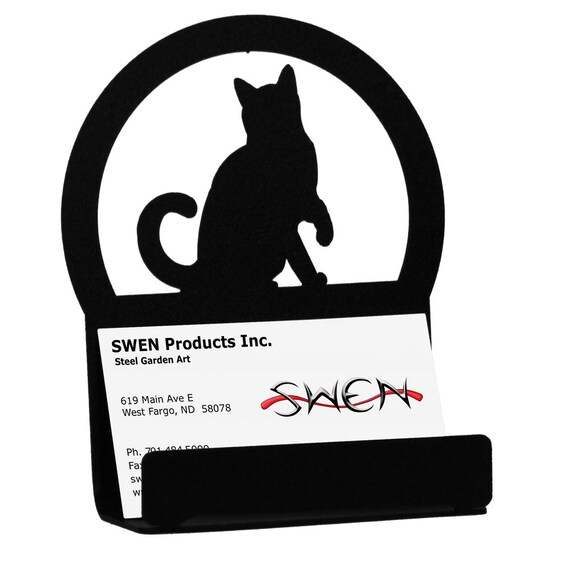 Cat metal business card holder reheart Gallery