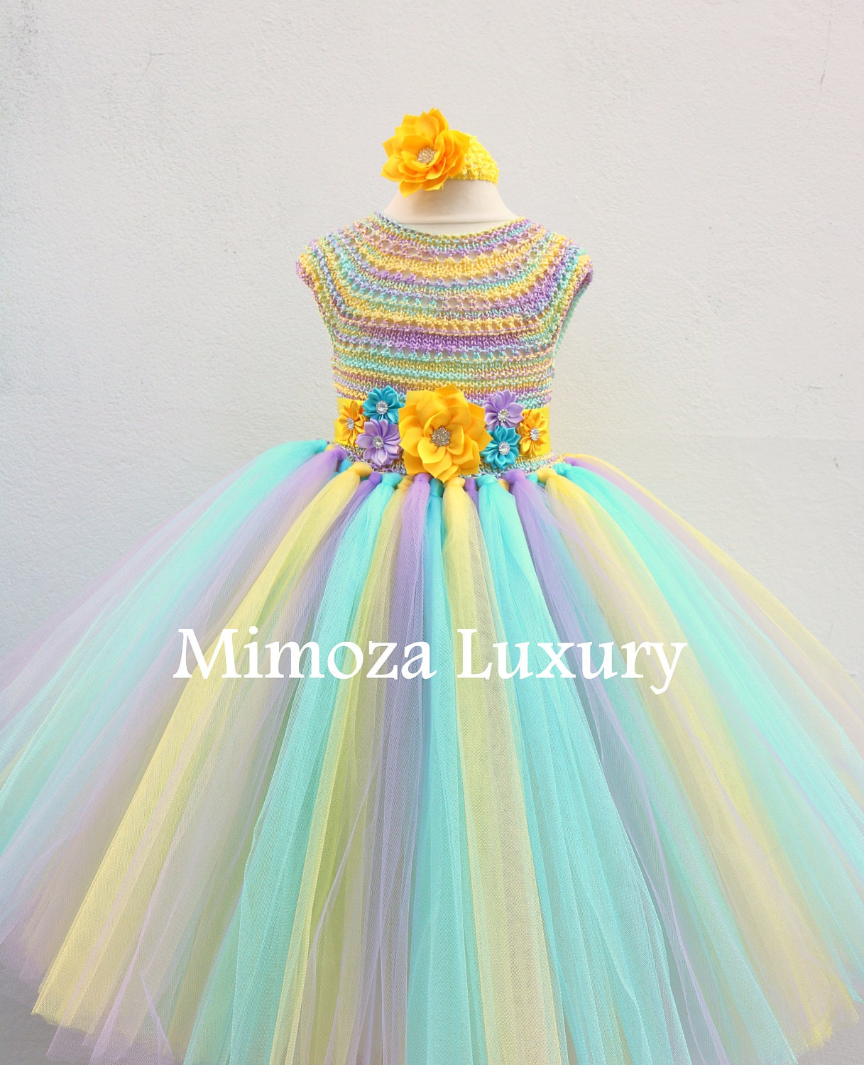 Rainbow Birthday Tutu Dress, 1st birthday dress, infant baby dress ...