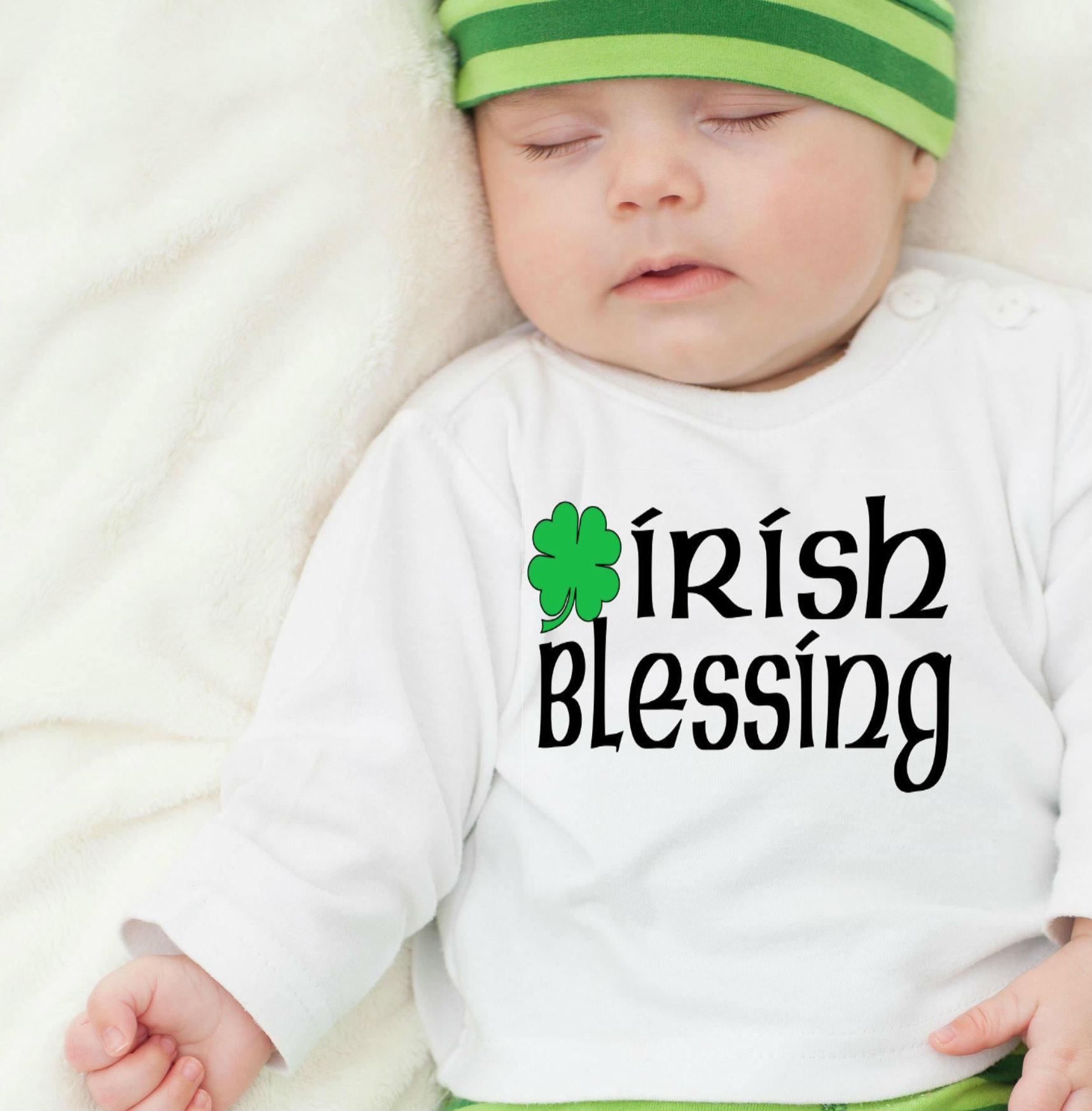 St Patricks Day Baby Irish Baby Irish Blessing Irish
