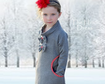 Girls Dress Pattern pdf, Childrens Sewing Pattern, Stretch Pattern, Girls Clothing Pattern, Sewing Pattern for Kids, Girls Pattern HEIDI