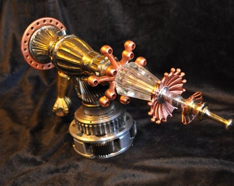 "Ray Gun "" INTERGALACTIC REDIRECTOR RAYGUN "" Table Top Steampunk Sci-fi Victorian Industrial"