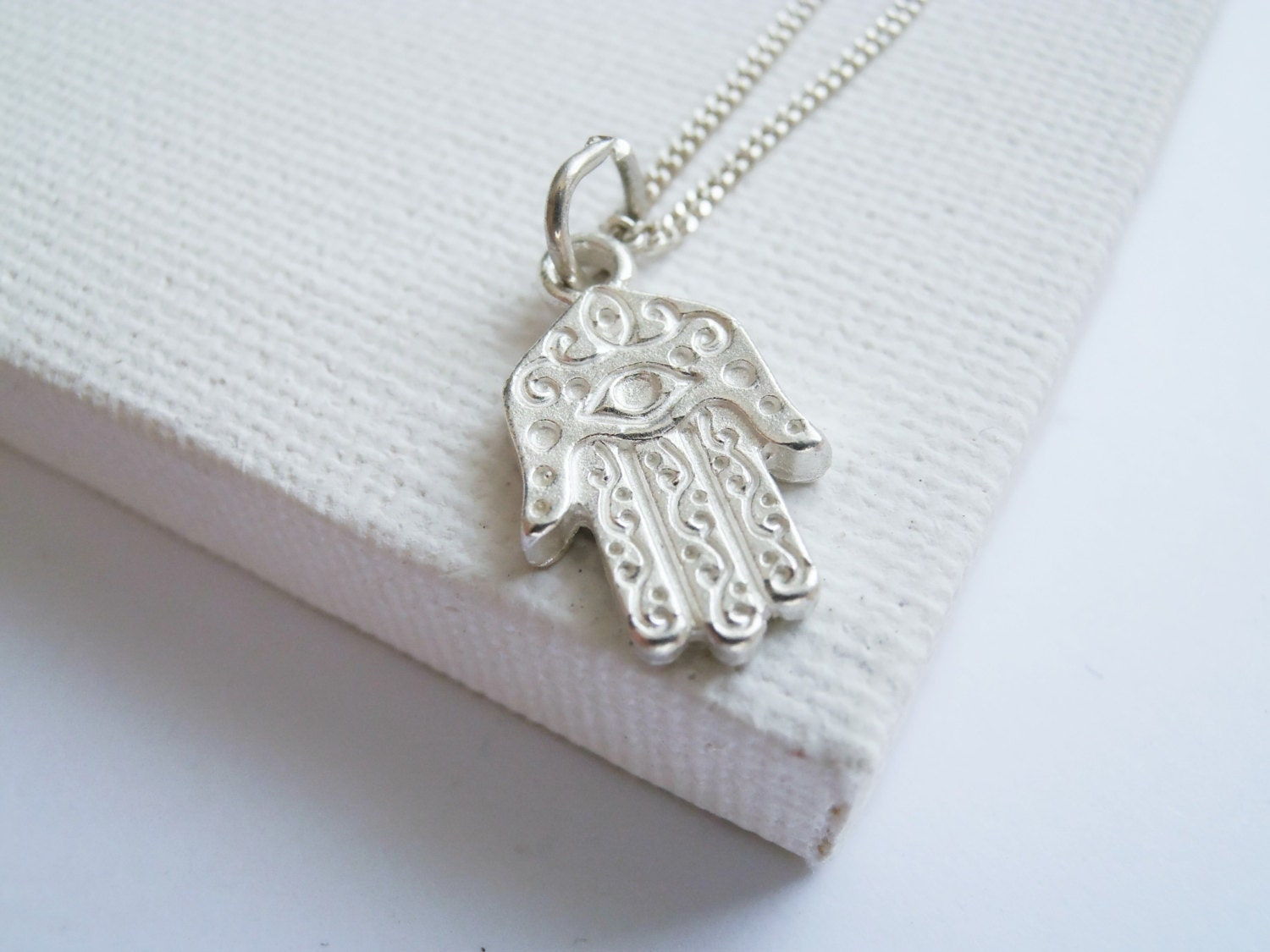 silver star hand necklace womens pendant sterling silverly fatima protection chain hamsa