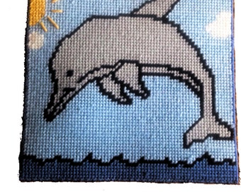 Dolphin Wall Hanging in Plastic Canvas