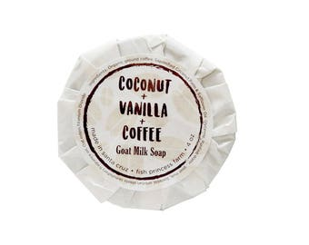 Coconut Vanilla Coffee  Latte Handmade Goat Milk Soap