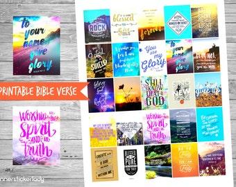 Printable Bible Verse #2 For Erin Condren Planner