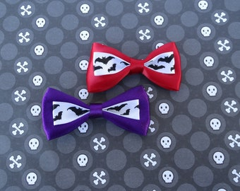 Purple or Red Bow with Bats