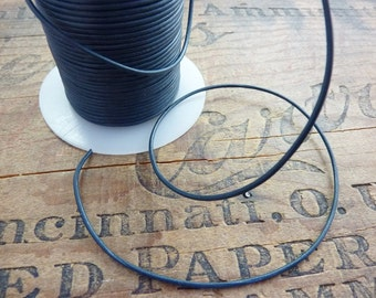 Leather Cord 1.5mm Quality Blue Steel