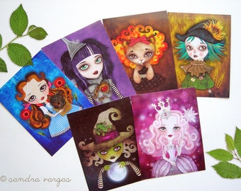 Wizard of Oz Postcard Set of 6 Gift Pack Collectible Postcards, Snail Mail, Postcrossing