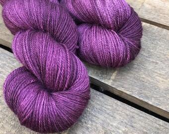 Zwergpflaume - Superwash Blue Faced Leicester, Silk & Cashmere Splendiferous Sock 100g