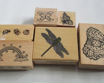 Butterfly/Dragonfly/Ladybug/Rainbow Stamps