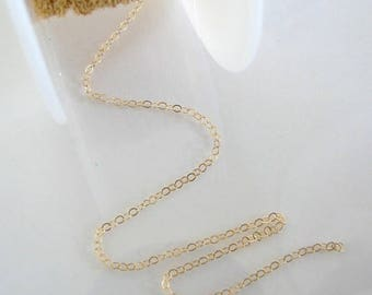 3 Feet - 14K Gold Filled Cable Chain - Custom Lengths Available, Made in USA