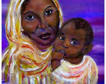 Devotion of A Mother's Love 8 x 10 Fine Art Print by Charlotte Phillips