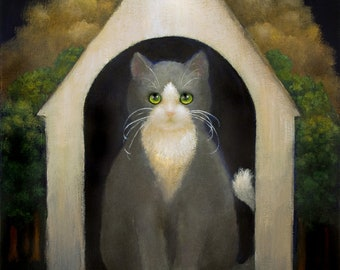 Doghouse Cat