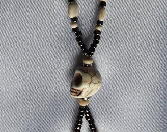 Skull handmade beaded necklace