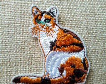Cat applique,cat patches, applique, patch,applique, motifs, clothes art work,Iron On Patches,Embroidered Patches for clothing,
