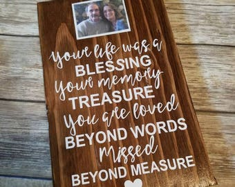 Your love is a memory wood sign