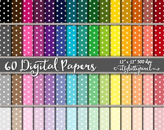 Small Polka Dot Scrapbook Paper, Polka Dot Scrapbooking Paper, Polka Dot Digital Paper, Small Dot Pattern, Polka Dot Paper, Mini Polka Dots