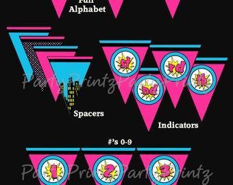 INSTANT DOWNLOAD -  Printable SuperGirl Banner  - Birthday - Superhero Girl - Full Alphabet