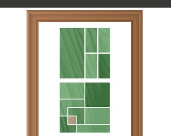 Geometric Print - Geometric Art - Green Decor - Geometric Wall Art - Abstract Print - Abstract Art Print - Instant Download Printable Art
