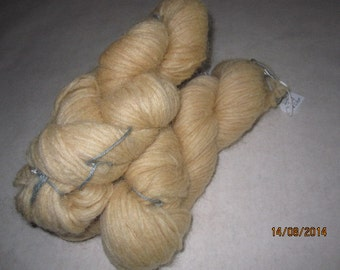 Icelandic pure wool, hand dyed with Parmelia Saxatilis 0613-2.
