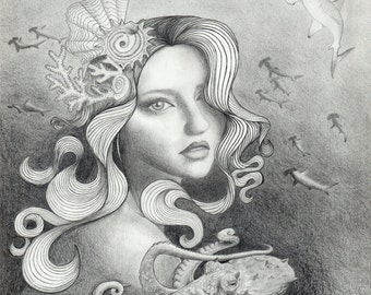 Fine Art Print of original Illustration - Undertow