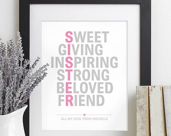Items similar to sister christmas gift for sister gift maid of honor related to this item negle Choice Image