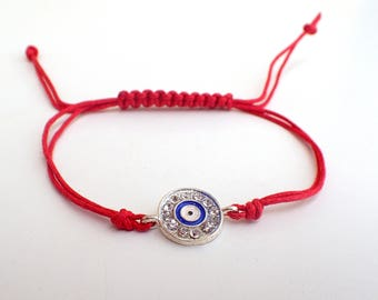 Evil eye bracelet , Red string bracelet , Protection bracelet , Gift for boyfriend , Gift for her , protection jewelry