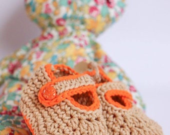 Rustic Ladybird Mary Jane Baby Shoes