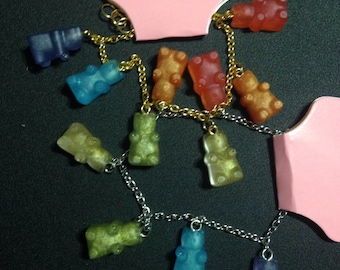 Metalic gummy bear bracelets