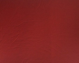 """Red Vinyl Fabric Faux Leather Pleather Upholstery 54"""" Wide By the Yard"""