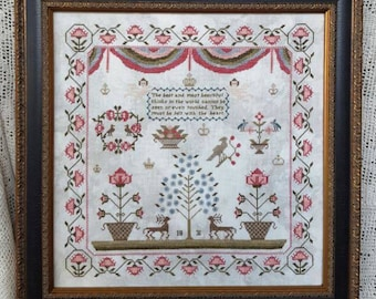 SAMPLERS NOT FORGOTTeN Faith 1831 counted cross stitch patterns at thecottageneedle.com 2018 Nashville Market
